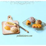 New Dollhouse Miniature Assorted bread Mold
