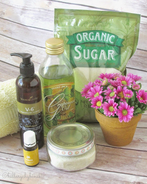 Ingredients for an easy DIY Sugar Scrub