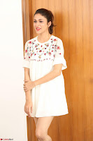 Lavanya Tripathi in Summer Style Spicy Short White Dress at her Interview  Exclusive 237.JPG