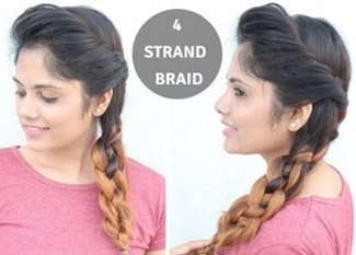 4- Strand Braid Hairstyle For Medium To Long Hair