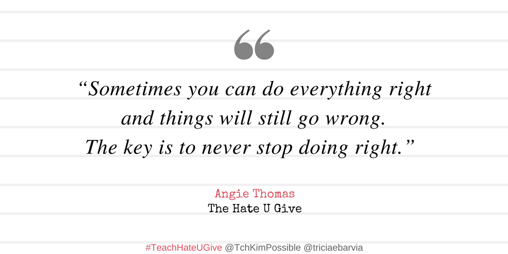 the hate you give book quotes