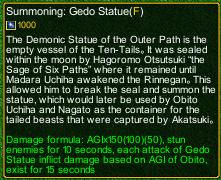 naruto castle defense 6.0 Summon Gedo statue detail