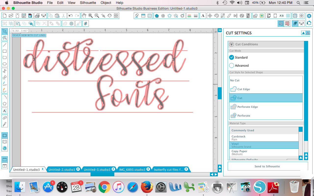 Silhouette Hack For Weeding Distressed Fonts Or Designs On