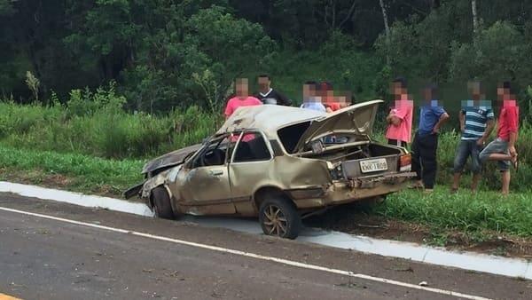 Acidente grave na BR-280 em Irineópolis deixa uma vítima