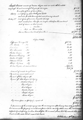 1836 Accounting of Martin Snyder's Estate