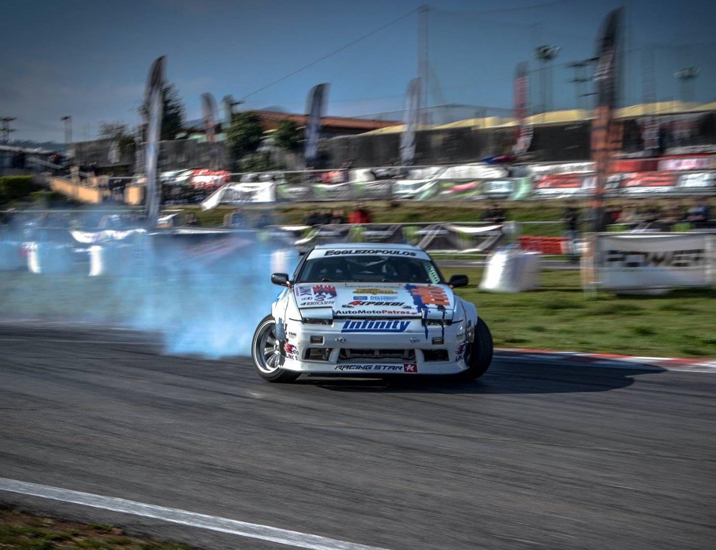 O Λεοντής Ηρακλής με Nissan 400SX- Infinity Tyres Team νικητής του 1ου αγώνα του Πανελληνίου Πρωταθλήματος Drift 2017