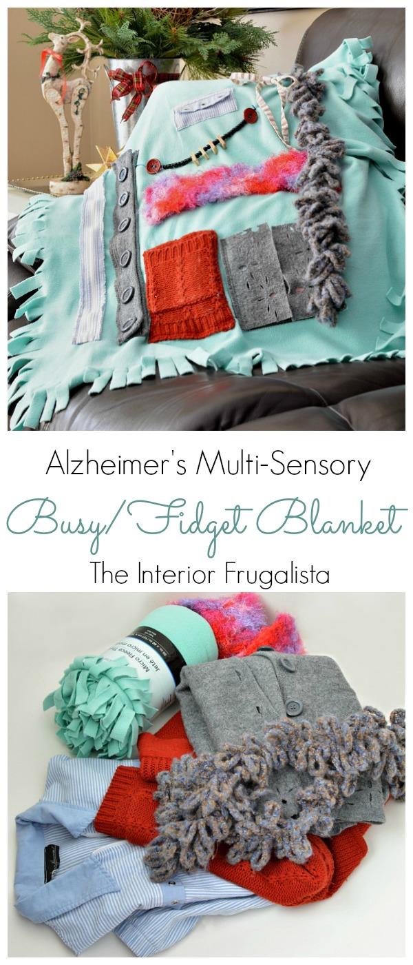 Multi-Sensory Alzheimers-Dementia Busy Fidget Blanket
