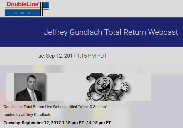 "Jeffrey Gundlach Webcast ""Wack-O Season"""