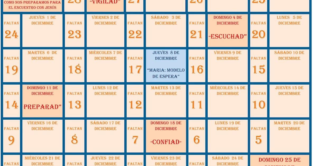 Pastoral familiar archidiocesis de granada calendario de for Calendario adviento 2017