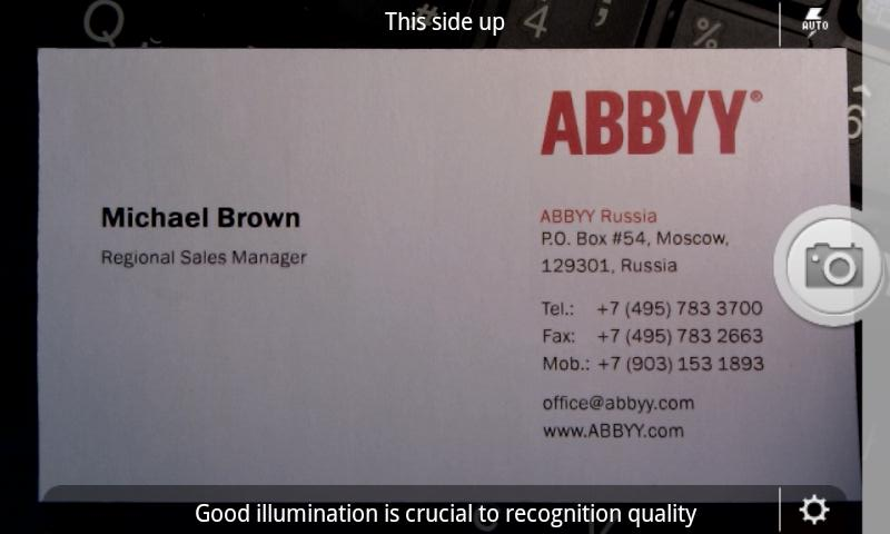Scan business card add to contact list with android app ehowportal abbyybusinesscardreaderfreedownloadforandroid colourmoves