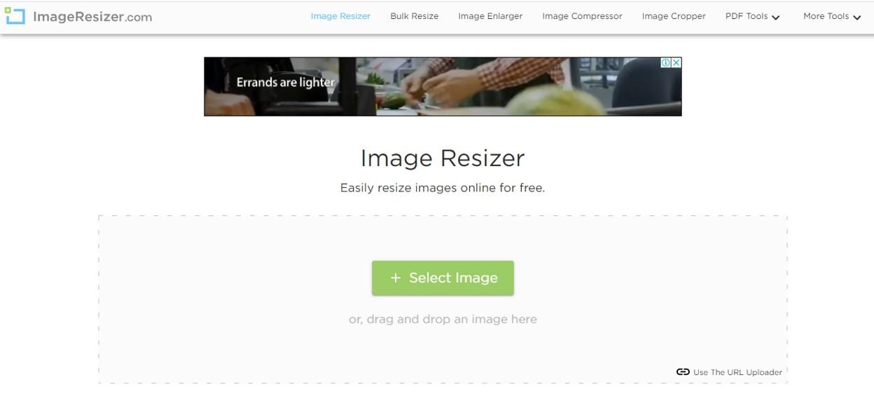 Image resizer file size reducer free blogging tool
