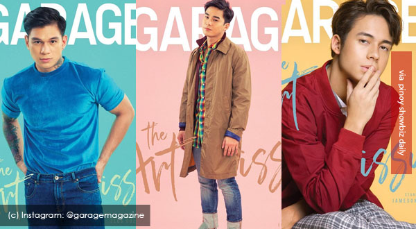 Zeus Collins, Jameson Blake, and McCoy De Leon grace cover of Garage magazine