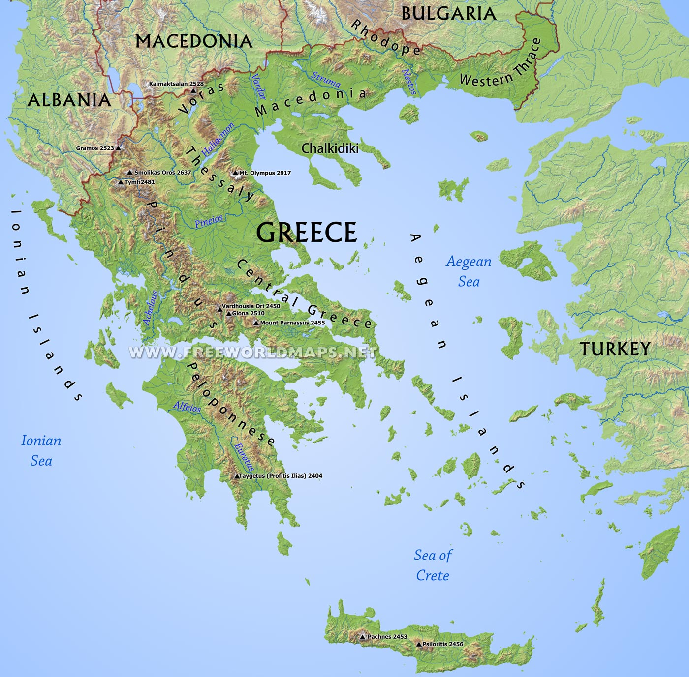 Greece'S Landforms And Bodies Of Water 57