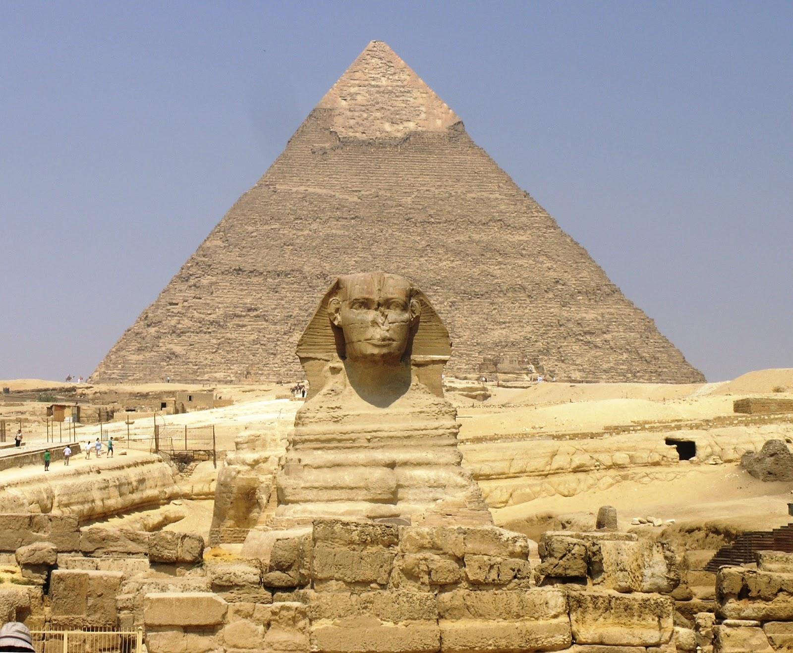 Пирамиды, Сфинкс, Египет, Гиза