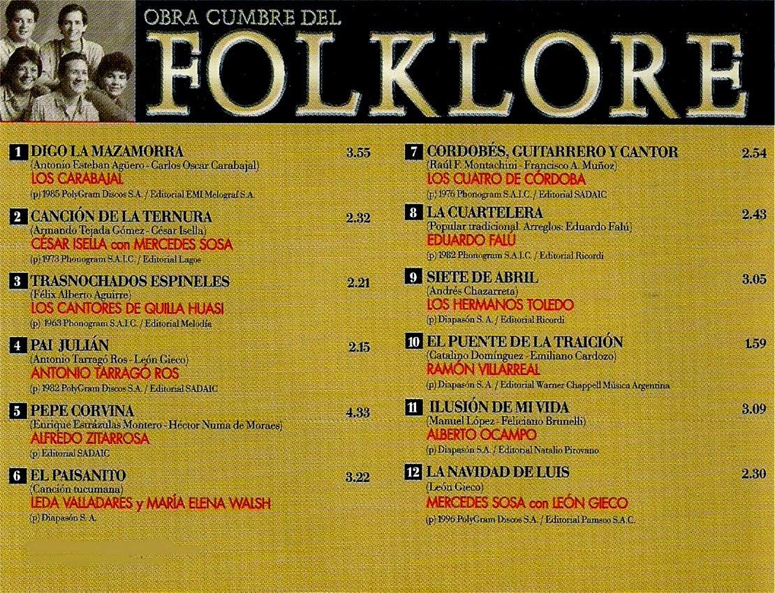 obras cumbres del folklore descargar 24 contratapa