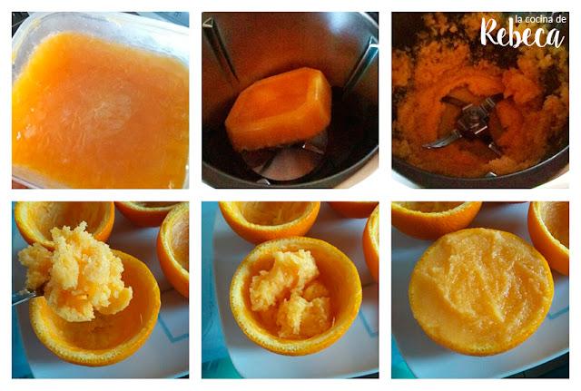 Receta de sorbete de naranja 02