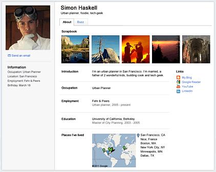 nuevo perfil de google
