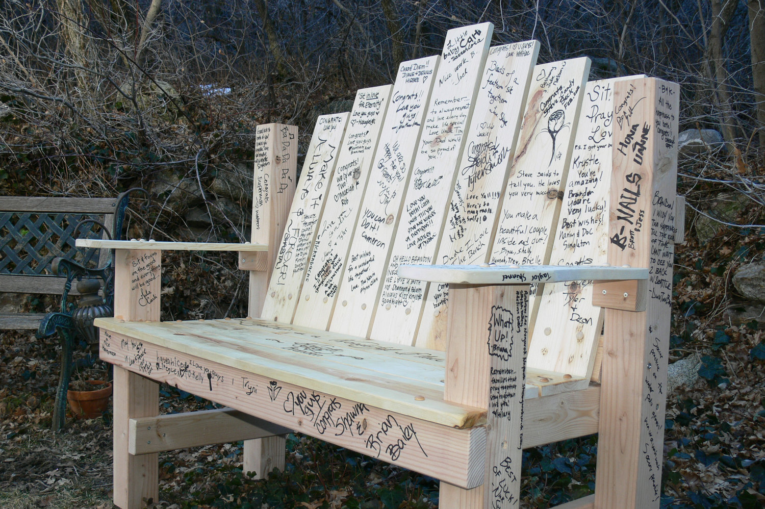 Jubilee Events: Bench Guestbook