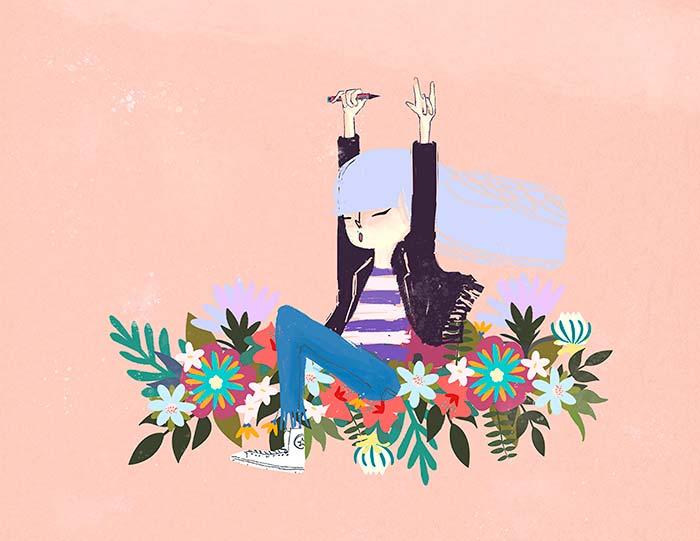 Ilustración de Barcelona de Patricia Hu