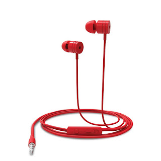 Portronics Por-765 Conch 204 in-Ear Stereo Headphone (Red)