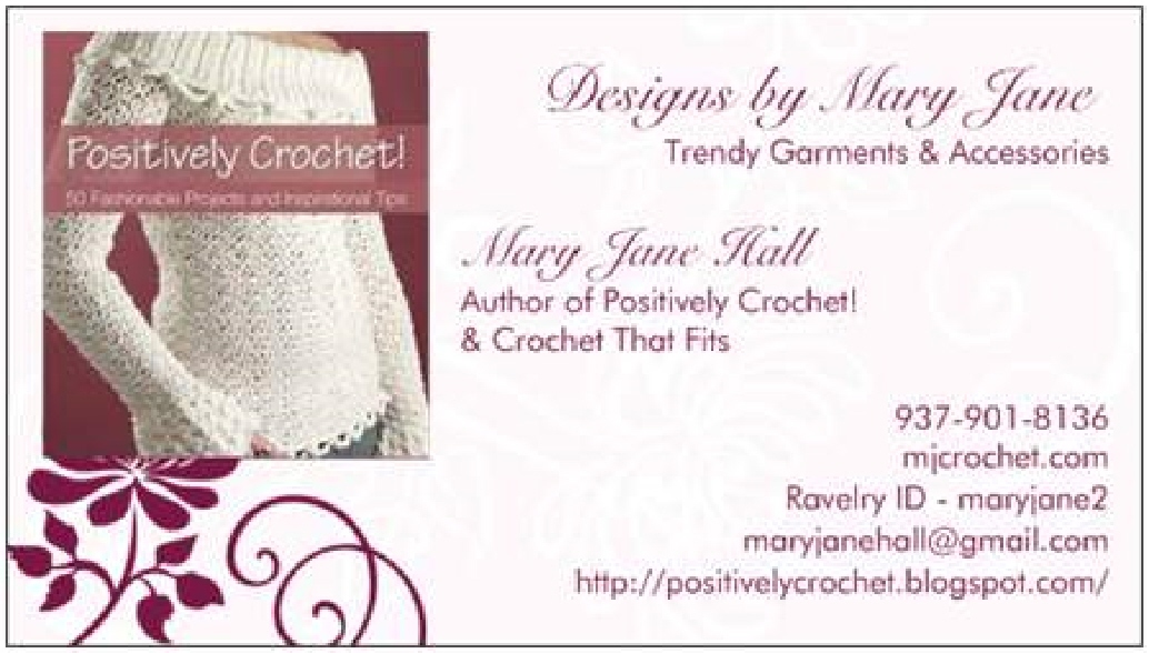 Positively Crochet My Crochet Designing Business Cards