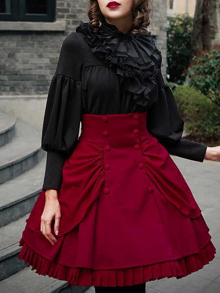 https://www.stylewe.com/product/gathered-solid-vintage-double-layer-bustle-midi-skirt-79815.html