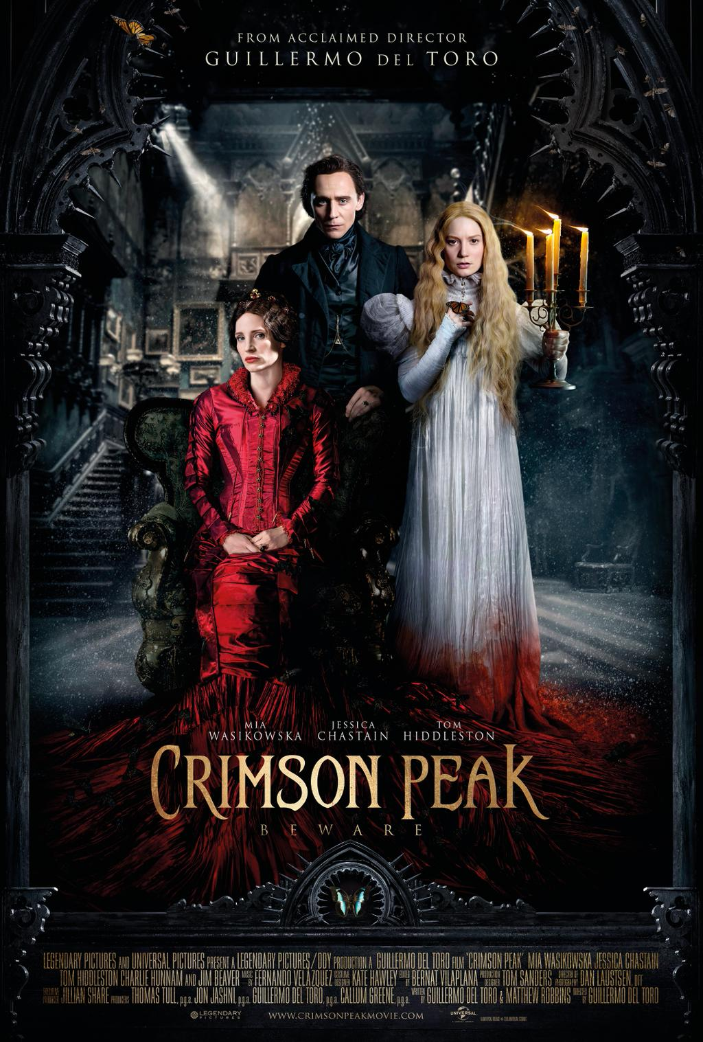 crimson peak wzgórze krwi film recenzja guillermo del toro tom hiddleston