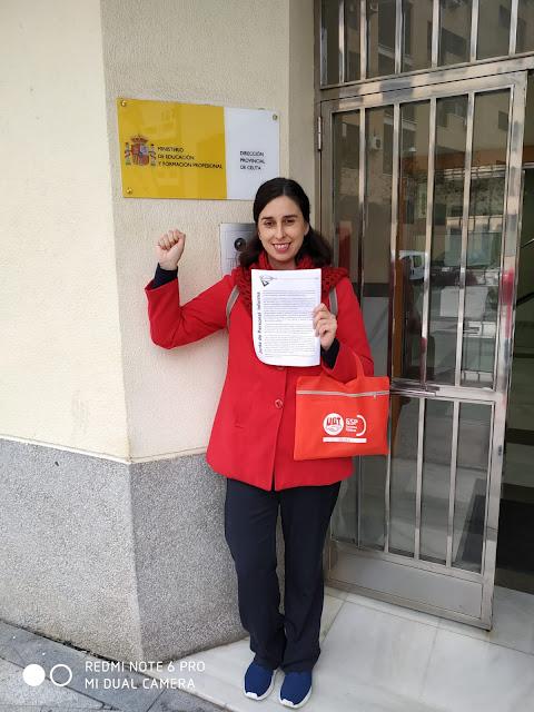Junta de Personal Docente Ceuta, Enseñanza UGT Ceuta