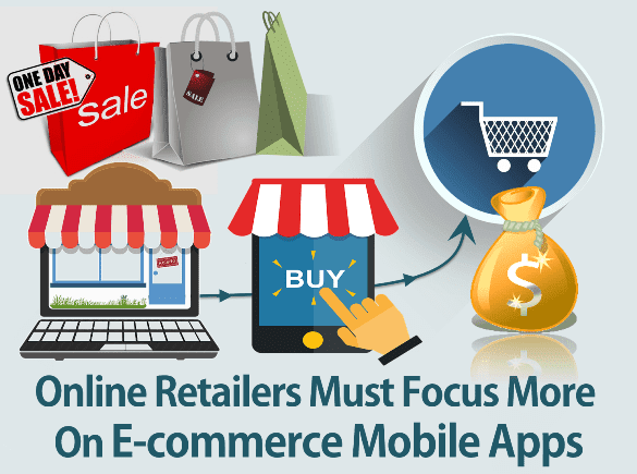 Online E-Retailers Must Focus More on E-commerce Mobile Apps