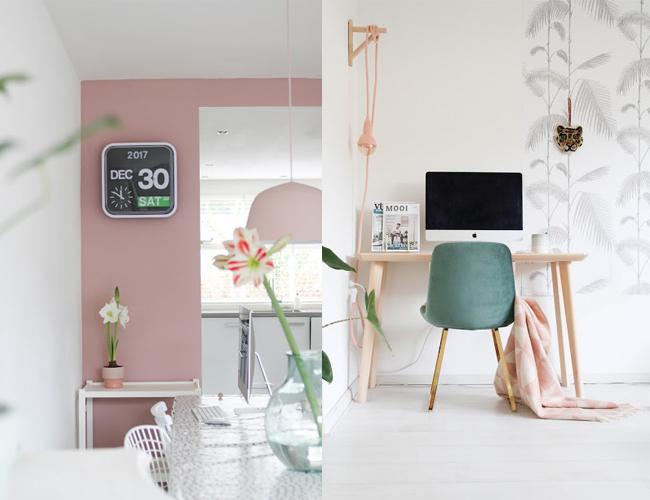 Inspiración rosa empolvado para decorar tu hogar