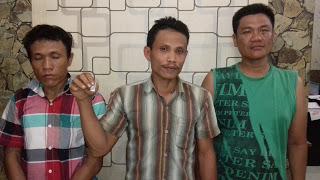 Ketiga tersangka narkoba di Asahan.