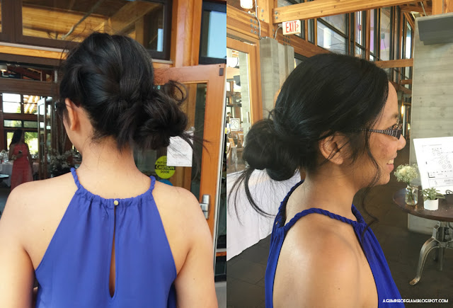 French Braid into Low Messy Bun - Andrea Tiffany A Glimpse of Glam