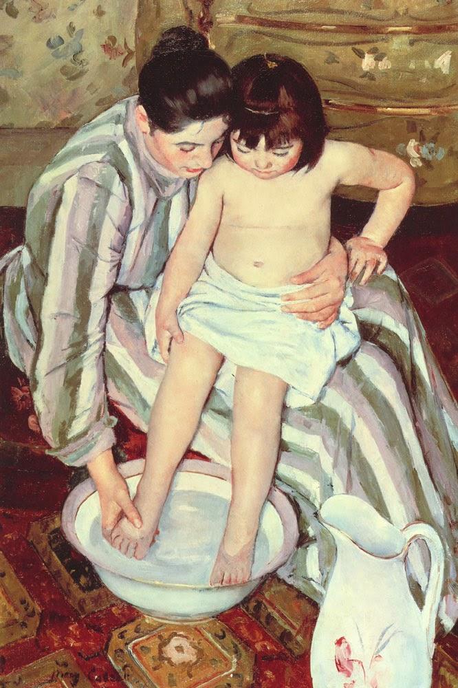 O Banho - Pinturas de Mary Cassatt | Mulheres na pintura