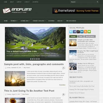 EndPlate blog template. magazine blogger template style. magazine style template blogspot