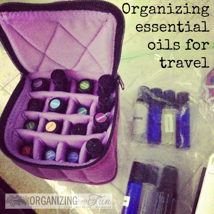 How to organize essential oils for travel AND how to get through security with them :: OrganizingMadeFun.com