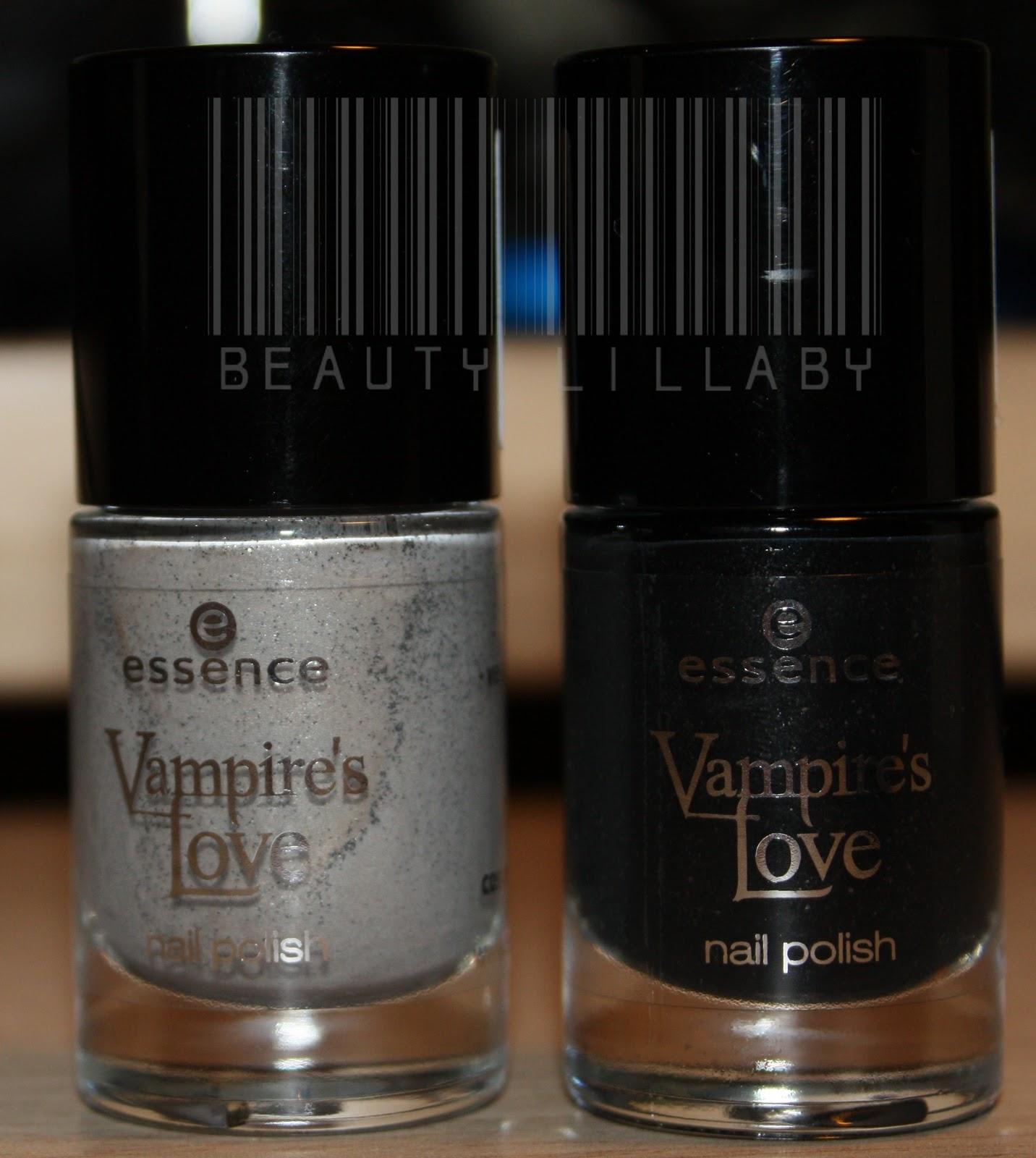 Vampire Nail Polish: Blillaby's: Essence Vampire's Love Nail Polishes 04 & 05