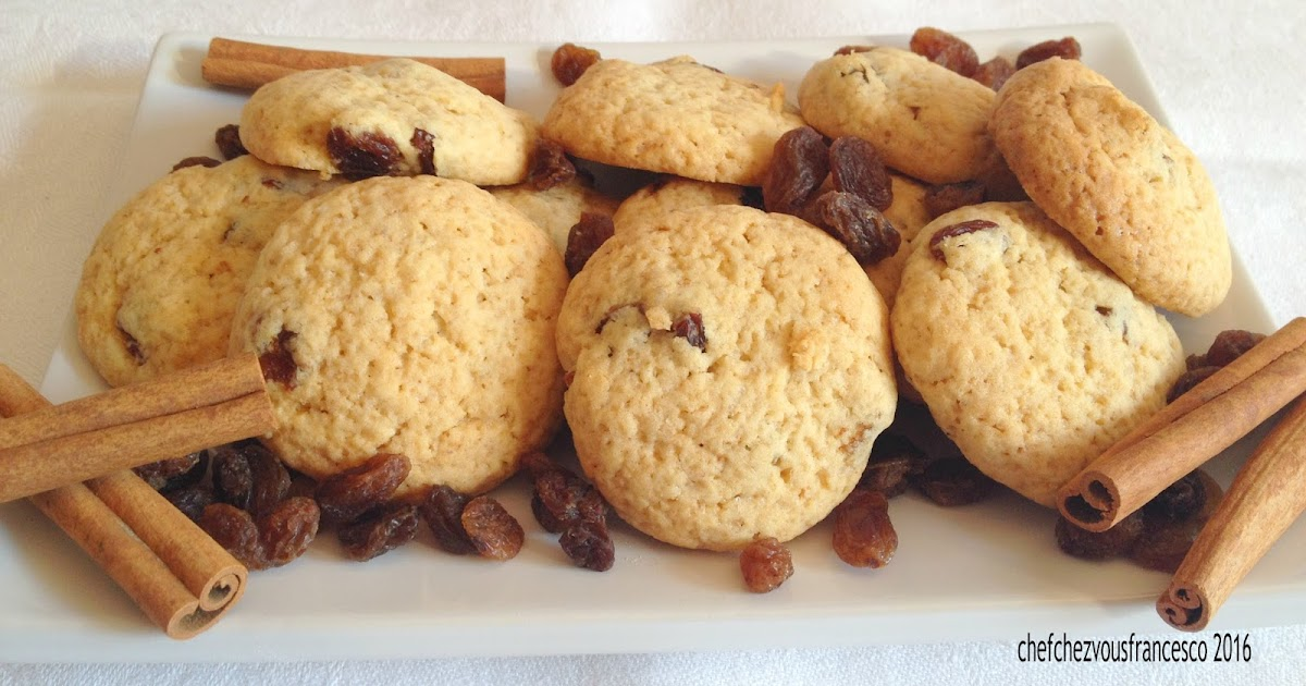 biscottini con uva sultanina e cannella