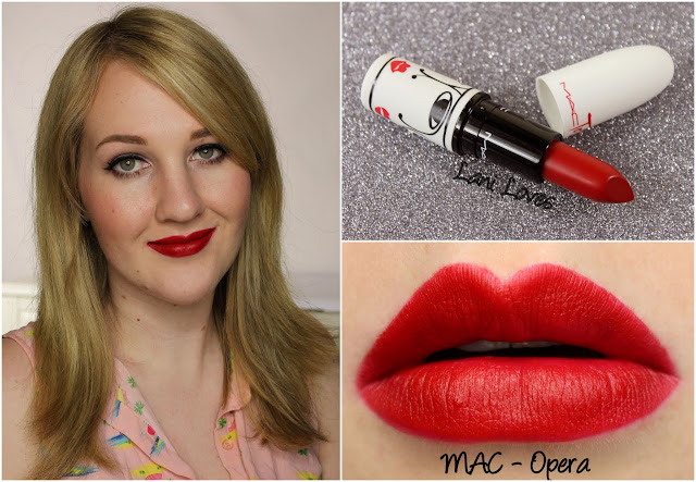 MAC Opera lipstick swatch