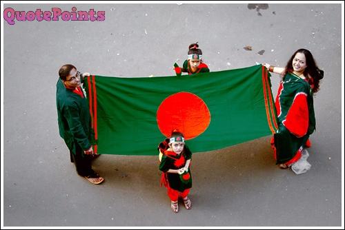 A Family with Bangladesh Flag