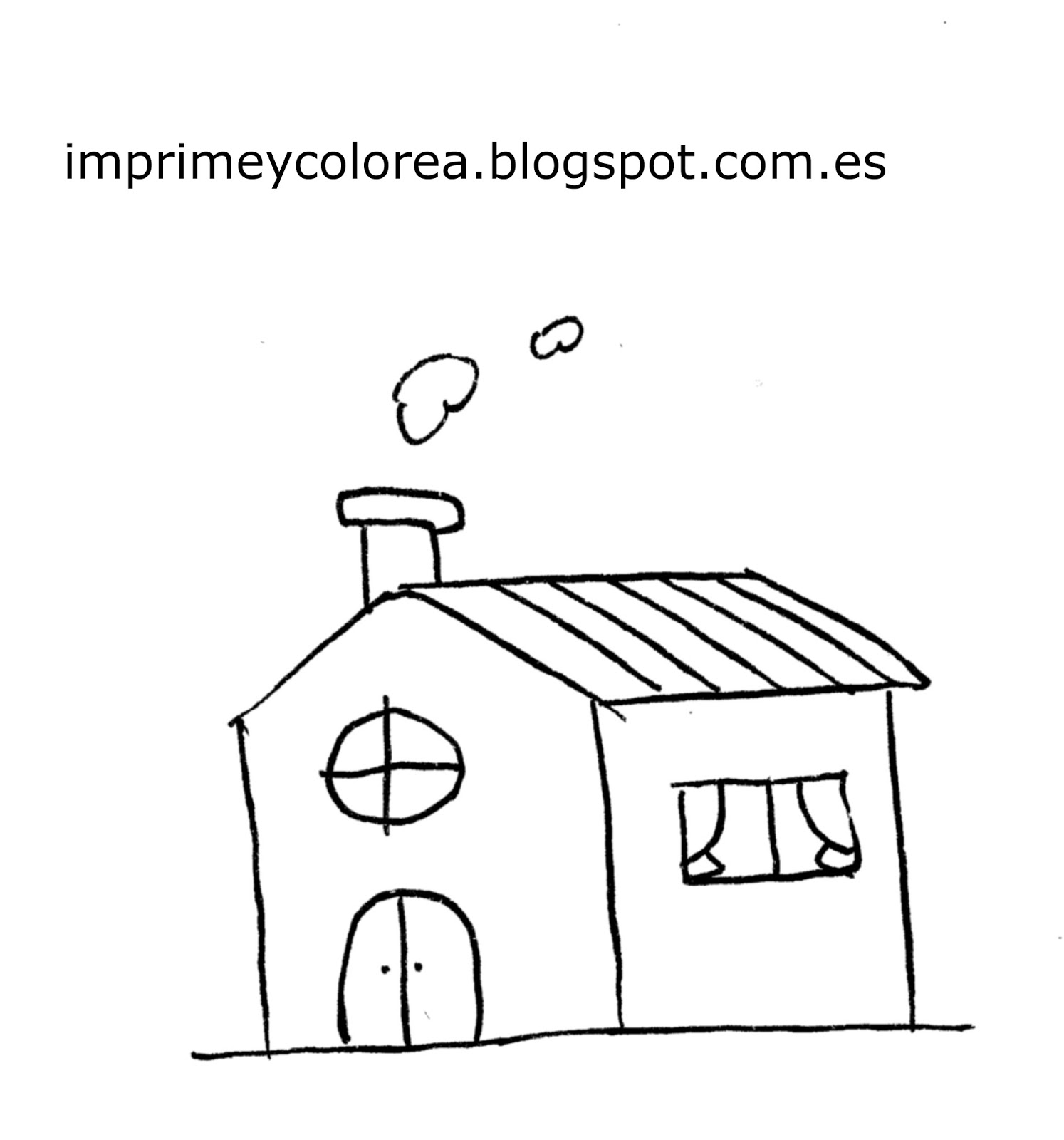 Imagenes De Casas Para Colorear E Imprimir
