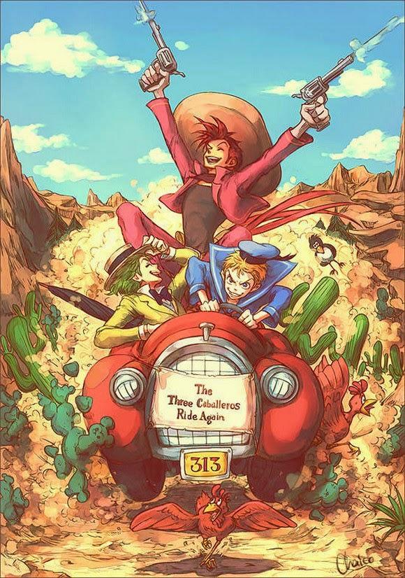 Ilustraciones de personajes de Disney en versiones humanas