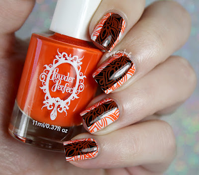 Powder Perfect Orange Stamping Polish