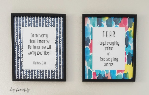 add vinyl quotes to custom art for a truly personalized look