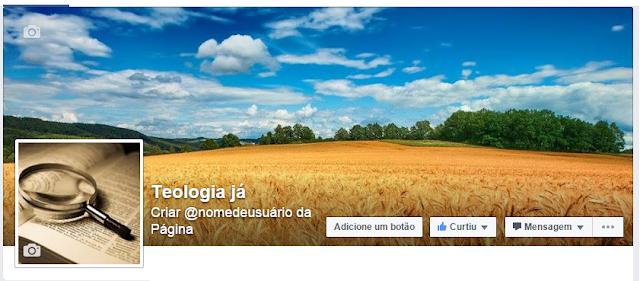 Página no Facebook sobre assuntos de cunho religioso teológico