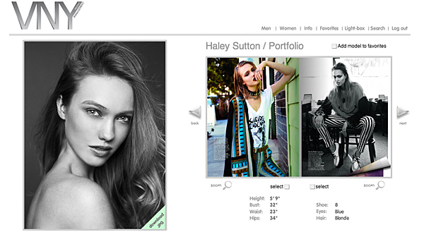 Haley Sutton - Cast Images Model - VNY Model Management