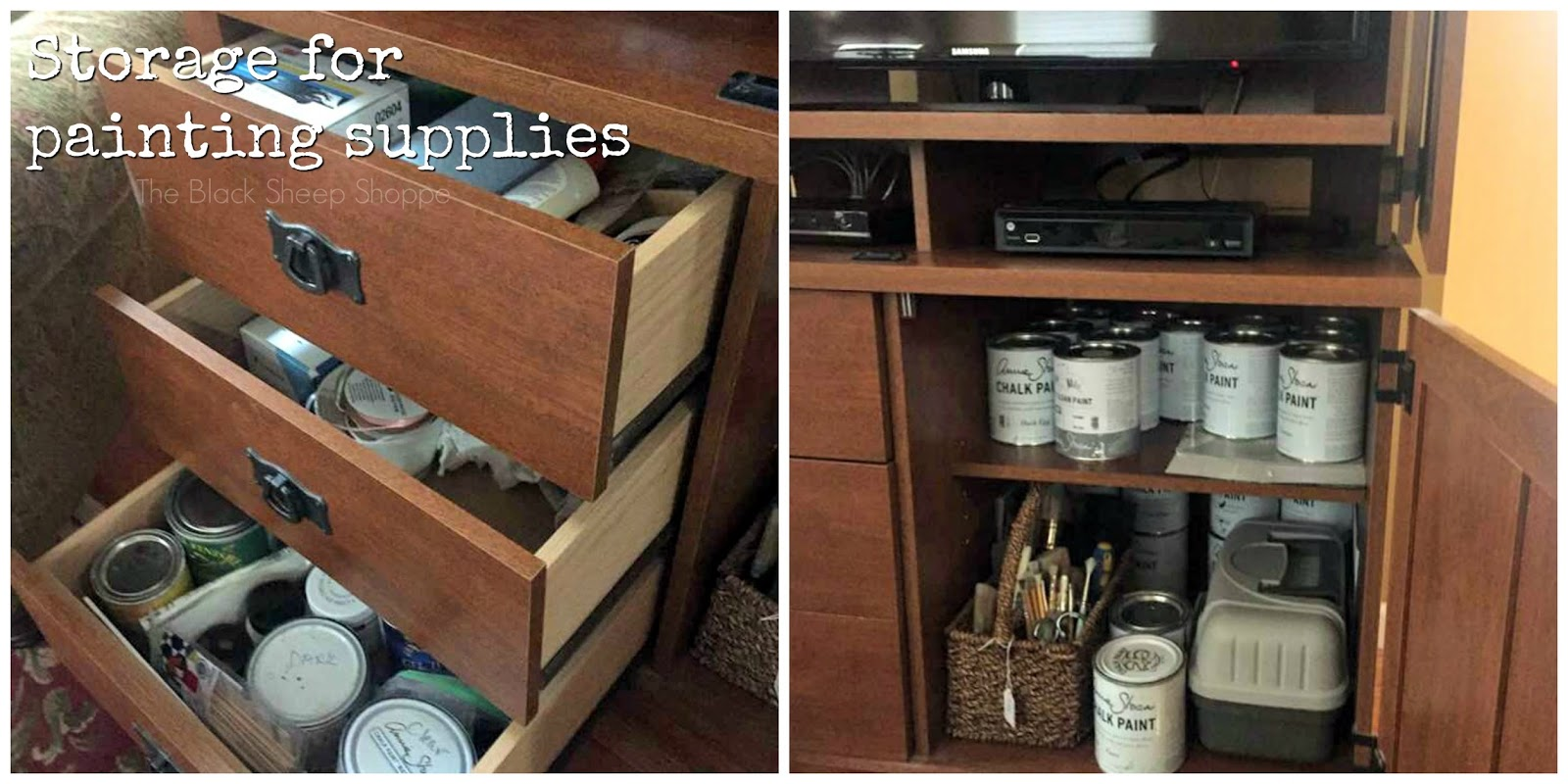 Storage solution for paint supplies