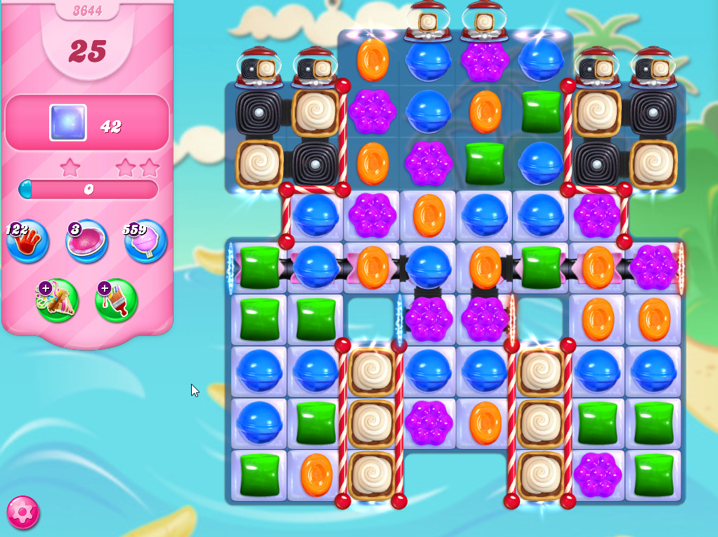 Candy Crush Saga level 3644