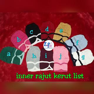 inner kerut list bahan rajut