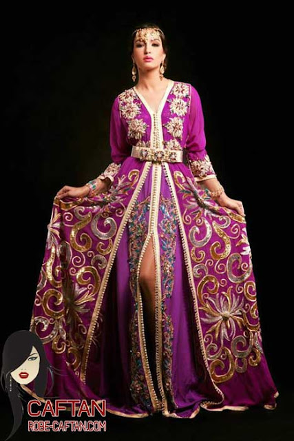 Caftan marocain / broderies et coutures 2017