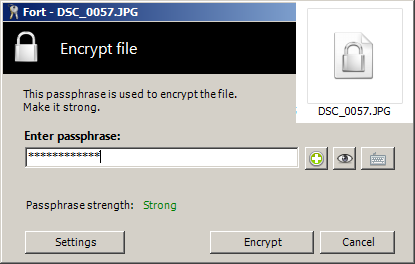 تحميل وتثبيت وشرح برنامج Fort File Encryption لتشفير الملفات بكلمة سر